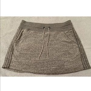 Athleta Gray Mini Skirt w/ Drawstring Waist Size M